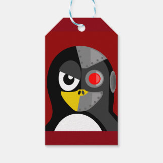Penguin Cyborg Gift Tags