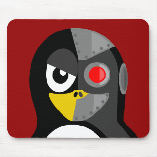 Penguin Cyborg Mouse Pad