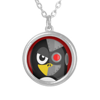 Penguin Cyborg Silver Plated Necklace