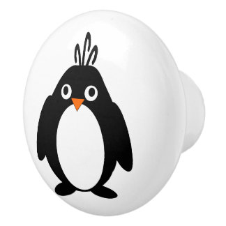 Penguin Design Ceramic Knob