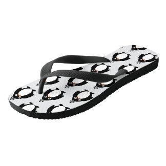 Penguin Design Flip Flops