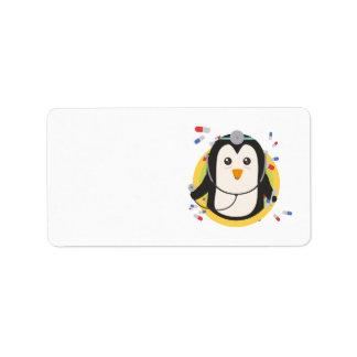 Penguin doctor in circle Z2j5l