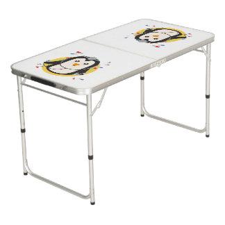 Penguin doctor in circle Z2j5l Beer Pong Table