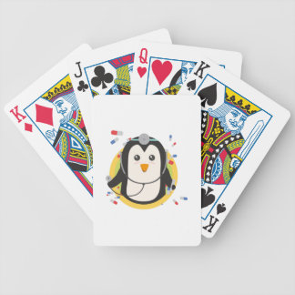 Penguin doctor in circle Z2j5l Bicycle Playing Cards