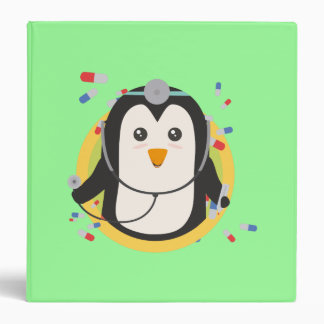Penguin doctor in circle Z2j5l Binder
