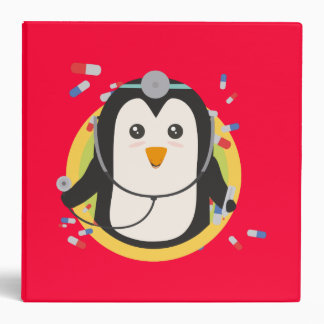 Penguin doctor in circle Z2j5l Binders