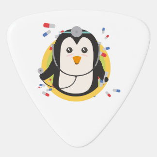 Penguin doctor in circle Z2j5l Guitar Pick