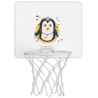 Penguin doctor in circle Z2j5l Mini Basketball Hoop