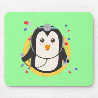 Penguin doctor in circle Z2j5l Mouse Pad
