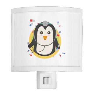 Penguin doctor in circle Z2j5l Nite Lite