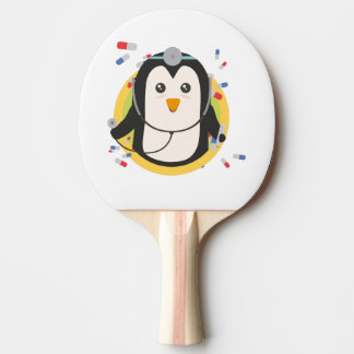 Penguin doctor in circle Z2j5l Ping Pong Paddle