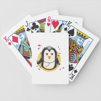 Penguin doctor in circle Z2j5l Poker Deck