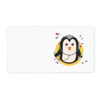 Penguin doctor in circle Z2j5l Shipping Label