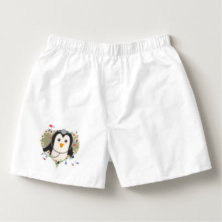 Penguin doctor with flower heart Zuq99 Boxers