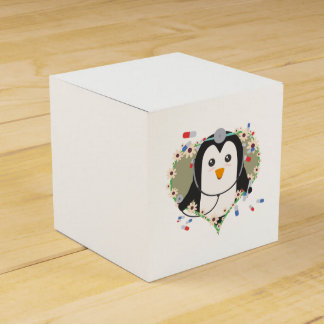 Penguin doctor with flower heart Zuq99 Favor Box