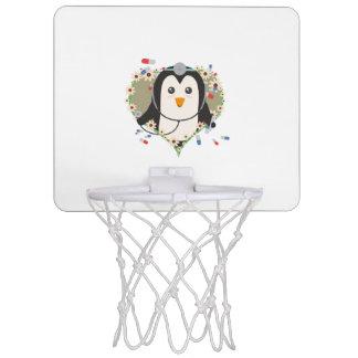 Penguin doctor with flower heart Zuq99 Mini Basketball Hoop