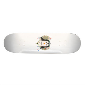 Penguin doctor with flower heart Zuq99 Skate Board Deck