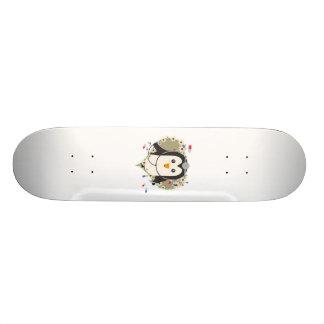 Penguin doctor with flower heart Zuq99 Skateboard