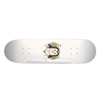 Penguin doctor with flower heart Zuq99 Skateboard Deck