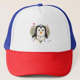 Penguin doctor with flower heart Zuq99 Trucker Hat