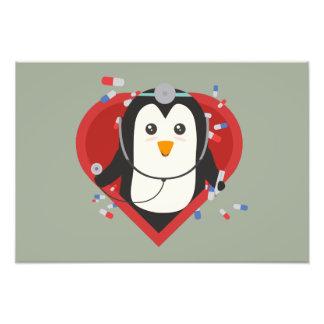 Penguin doctor with heart Zal28 Art Photo
