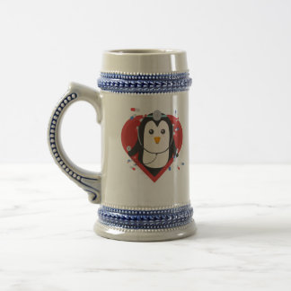 Penguin doctor with heart Zal28 Beer Stein
