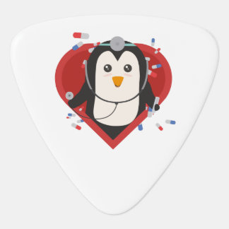 Penguin doctor with heart Zal28 Guitar Pick