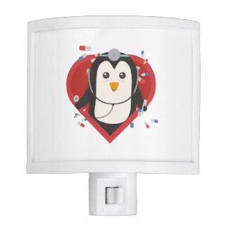 Penguin doctor with heart Zal28 Nite Lights