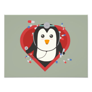 Penguin doctor with heart Zal28 Photo Art