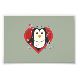 Penguin doctor with heart Zal28 Photograph