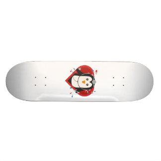 Penguin doctor with heart Zal28 Skateboard Deck