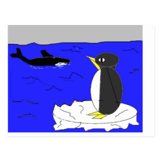 Penguin Drawing Postcard