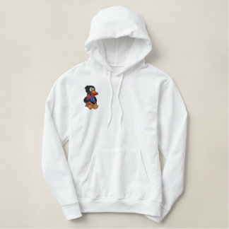 Penguin Drinking Coffee Embroidered Shirt