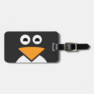 Penguin Face Luggage Tag