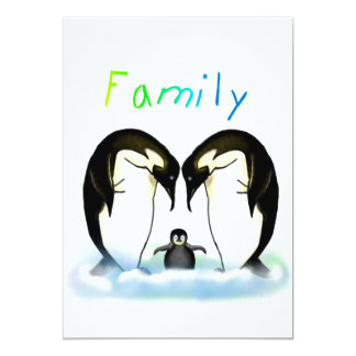 Penguin Family Invitation