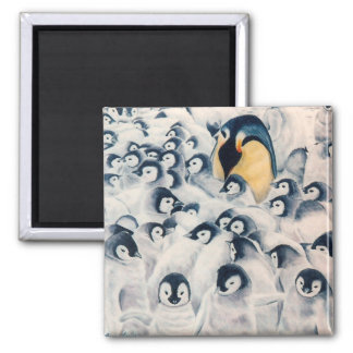 'Penguin Family' Magnet