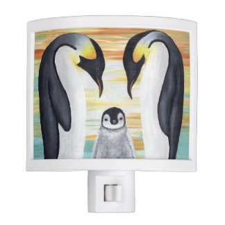 Penguin Family with Baby Penguin Night Lites
