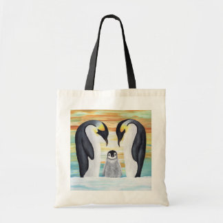 Penguin Family with Baby Penguin Tote Bag