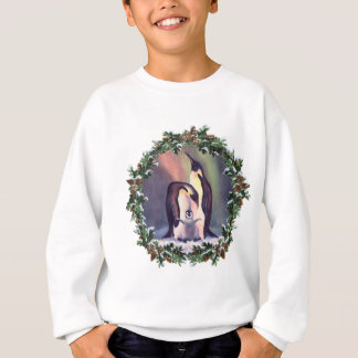 PENGUIN FAMILY & WREATH by SHARON SHARPE Sweatshirt