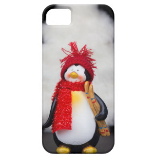 Penguin figurine with white christmas tree case for the iPhone 5