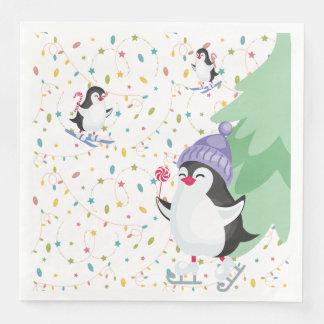 Penguin Folly Paper Napkin