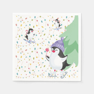 Penguin Folly Paper Napkins