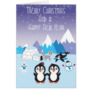 Penguin Friends Arctic Christmas Card
