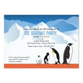 "Penguin Friends 5"" X 7"" Invitation Card"