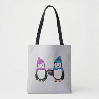 Penguin Friends Tote Bag