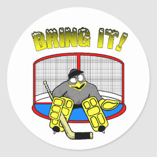 Penguin Goalie Sticker