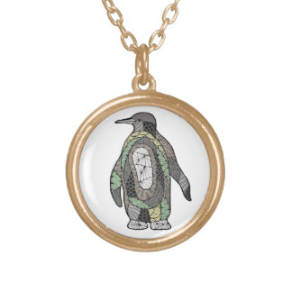 Penguin Gold Plated Necklace