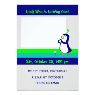 Penguin Golfing invitation