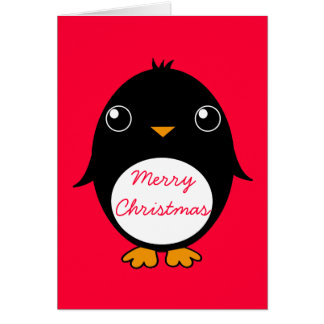 penguin greeting card :  Merry Chrismas