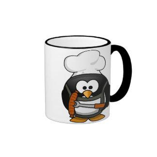 Penguin Grill Ringer Mug